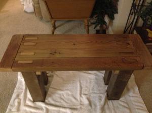 barnwood bench 3
